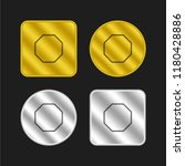 octagon outline shape gold and...