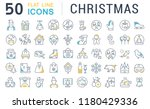 set of vector line icons of... | Shutterstock .eps vector #1180429336