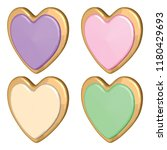 colorful cookie set with... | Shutterstock .eps vector #1180429693