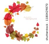 autumn  the leaves fall from... | Shutterstock .eps vector #1180429870