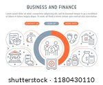 line banner of business and... | Shutterstock .eps vector #1180430110