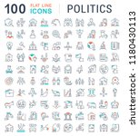 set of vector line icons of...   Shutterstock .eps vector #1180430113