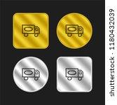 truck hand drawn transport gold ...