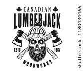 canadian bearded lumberman... | Shutterstock .eps vector #1180434466