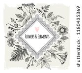 template greeting card or... | Shutterstock .eps vector #1180435369