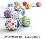 Multicolor Painted Easter Eggs...