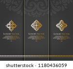set of vector emblem. elegant ... | Shutterstock .eps vector #1180436059