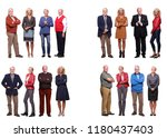 group of old people | Shutterstock . vector #1180437403