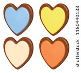 colorful cookie set with banana ... | Shutterstock .eps vector #1180440133