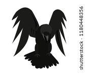 vector illustation with black... | Shutterstock .eps vector #1180448356
