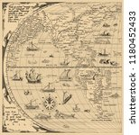 antique world map  north... | Shutterstock .eps vector #1180452433
