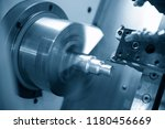 the  cnc lathe machine or... | Shutterstock . vector #1180456669