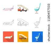 vector design of airport and... | Shutterstock .eps vector #1180457533