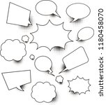 set of empty comic speech... | Shutterstock .eps vector #1180458070