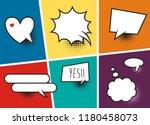 comic speech bubbles and comic... | Shutterstock .eps vector #1180458073