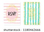 bridal shower card with dots... | Shutterstock .eps vector #1180462666
