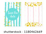 gold glitter dots with sequins. ... | Shutterstock .eps vector #1180462669