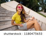 young attractive stylish... | Shutterstock . vector #1180475653