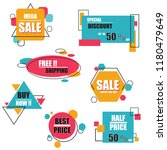 modern origami sale label and... | Shutterstock .eps vector #1180479649