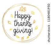 thanksgiving day. logo  text... | Shutterstock .eps vector #1180481950