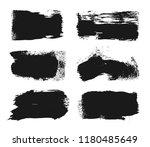 vector black paint  ink brush... | Shutterstock .eps vector #1180485649