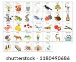 ukrainian alphabet letters with ... | Shutterstock .eps vector #1180490686