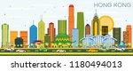 hong kong china city skyline... | Shutterstock .eps vector #1180494013