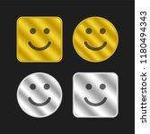smiling emoticon square face...