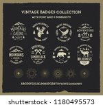 vintage badges collection with... | Shutterstock .eps vector #1180495573