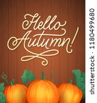 hello autumn lettering. hand... | Shutterstock .eps vector #1180499680