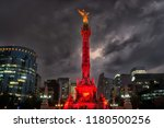 the angel of independence... | Shutterstock . vector #1180500256
