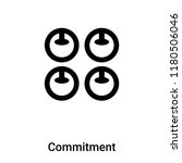 commitment icon vector isolated ... | Shutterstock .eps vector #1180506046