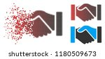 acquisition handshake icon with ... | Shutterstock .eps vector #1180509673