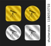 telescope gold and silver... | Shutterstock .eps vector #1180515733