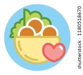 fresh falafel in pita logo.... | Shutterstock .eps vector #1180518670