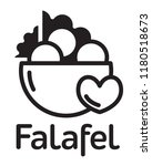 fresh falafel in pita logo.... | Shutterstock .eps vector #1180518673