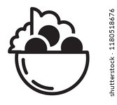 fresh falafel in pita logo.... | Shutterstock .eps vector #1180518676