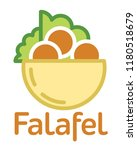 fresh falafel in pita logo.... | Shutterstock .eps vector #1180518679