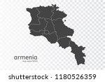 armenia map vector  isolated on ... | Shutterstock .eps vector #1180526359