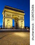 paris  arc de triomphe by night ...   Shutterstock . vector #118052686