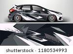 racing car wrap. decal  sticker ...   Shutterstock .eps vector #1180534993