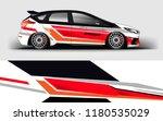 racing car wrap. decal  sticker ... | Shutterstock .eps vector #1180535029