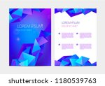 vector set of abstract... | Shutterstock .eps vector #1180539763