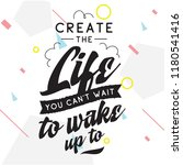 inspirational quote  motivation.... | Shutterstock .eps vector #1180541416