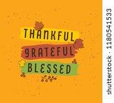 thanksgiving day. logo  text... | Shutterstock .eps vector #1180541533