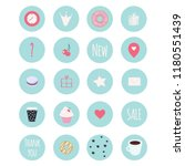 set of 20 vector icons... | Shutterstock .eps vector #1180551439