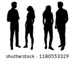 Vector Silhouettes Man And...