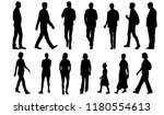 vector silhouettes men and... | Shutterstock .eps vector #1180554613