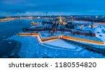 st. petersburg in the winter.... | Shutterstock . vector #1180554820