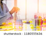 chemical icons and tests by a... | Shutterstock . vector #1180555636
